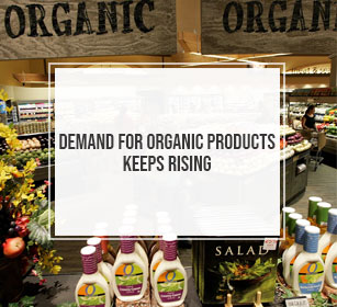 Demand for organic products keeps rising
