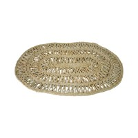 Handmade Natural Oval Jute Mat (Set of 10) - 50 CMS