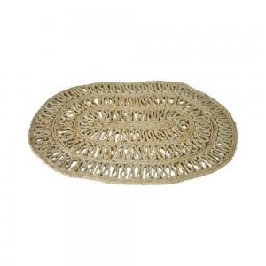 Handmade Natural Oval Jute Mat (Set of 10) - 50 CMS