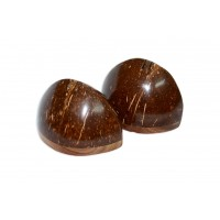 Coconut Shell Salt & Pepper Cellar - Set of 2