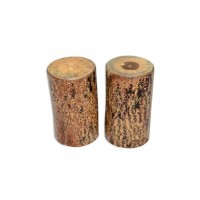 Wooden Salt & Pepper Cellars (with bark) – Set of 2 PCS