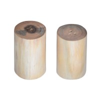 Wooden Salt & Pepper Cellars (without bark) – Set of 2 PCS