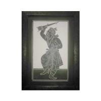 Designer Slate Wall Frame - Baul (Adaptation - Sahajpath by Rabindranath Tagore)