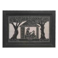 Designer Slate Wall Frame - Two Women