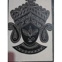 Designer Slate Wall Frame - Maa Dugga (Adaptation - rural culture of West Bengal)