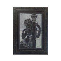 Designer Slate Wall Frame - Standing Lady (Adaptation - painting of Jamini Ray)
