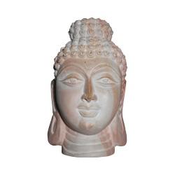 Natural Stone Carved Icon of Mahayana Buddha