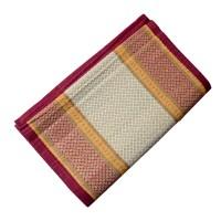 Madur Grass Triple Folded Mat / Chatai - (6.5x4.5 ft - Maroon)