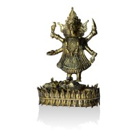 Brass Metal Craft (Dokra) Maa Kali - 7 Inches