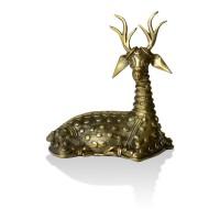 Brass Metal Craft (Dokra) Sitting Deer