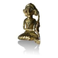 Brass Metal Craft (Dokra) Sitting Lady doing Shringar