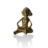 Brass Metal Craft (Dokra) Sitting Working Lady