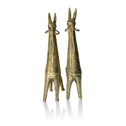 Dhokra Metal Craft – Bankura Horse (Set of 2)