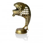 Brass Metal Craft (Dokra) Fish in Net