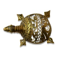 Brass Metal Craft (Dokra) Tortoise in Net Form