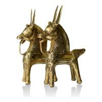 Dhokra Metal Craft – Horse King (Set of 2)