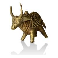 Brass Metal Craft (Dokra) Cow