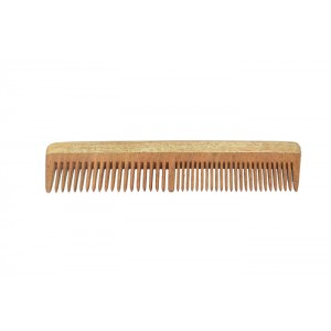 Natural Neem Wood Wide & Narrow Dual Teeth Comb
