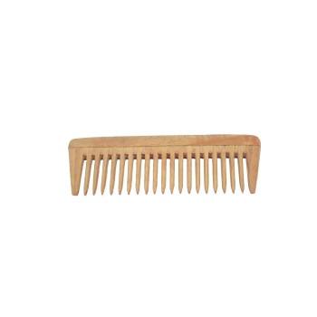 Natural Neem Wood Wide Teeth Comb - Medium Size