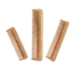 Natural Neem Wood Comb Combo for Travel