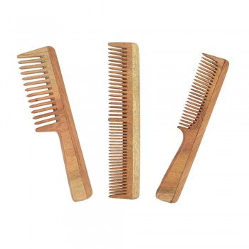 Natural Neem Wood Comb Combo for Women