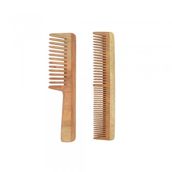 Natural Neem Wood Comb Combo for Kids