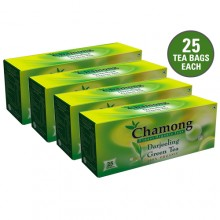 Chamong Organic Darjeeling Green Regular Tea Bag Combo - 100 Bags