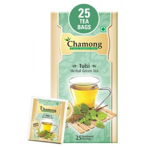 Chamong Organic Tulsi Green Envelope Tea Bag - 25 Bags
