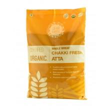 Dear Earth Organic Whole Wheat/Gehun Chakki Fresh Atta - 5KG