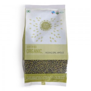 Dear Earth Organic Green Moong Dal Whole - 500 GMS