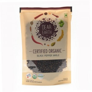 Dear Earth Organic Black Pepper Whole - 100 GMS