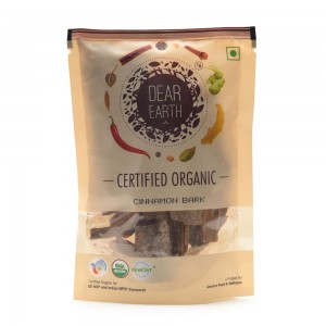 Dear Earth Organic Cinnamon Bark - 50 GMS