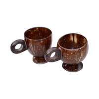 Coconut Shell Tea Cups - Set of 4