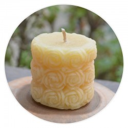 100% Pure Beeswax Rose Petal Shaped Candle