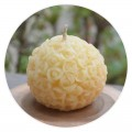 100% Pure Beeswax Rose Ball Shaped Candle
