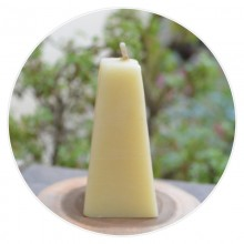 100% Pure Beeswax Pyramid Shaped Candle