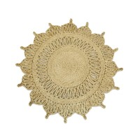 Handmade Natural Designed Round Jute Mat (Set of 10) – 35 CMS