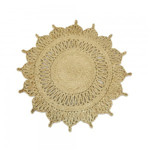 Handmade Natural Designed Round Jute Mat (Set of 10) – 35 CMS
