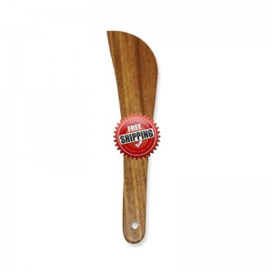 Premium & Natural Wood-Made Curved Cooking Spatula (for regular use) - 1 PC