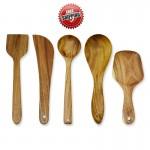 Premium & Natural Wood-made Cooking Tools (for regular use) - 5 PCs