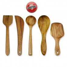Premium & Natural Wood-made Cooking Tools (for regular use) - 5 PCs