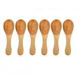 Natural Wooden Ice-cream Spoons - Set of 6