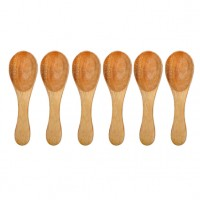 Natural Wooden Spoons - Set of 6