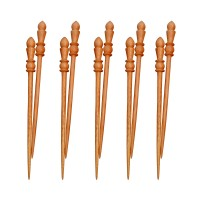 Wooden Hair Pin For Women - Set of 10