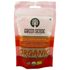 Green Sense Organic Black Pepper Powder/Kali Mirch - 100 GMS