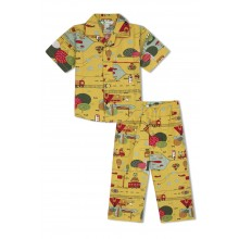 GreenApple Organic Cotton Boy's Nightsuit with A Travel Story