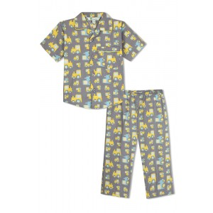 GreenApple Organic Cotton Boy's Nightsuit with Yellow Truck and Cars
