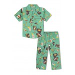 Boy's Nightsuit with Bats, Soccer Ball, Basket Ball