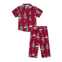 GreenApple Organic Cotton Boy's Nightsuit with Swinging Monkeys