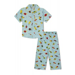 GreenApple Organic Cotton Boy's Nightsuits with Candies and Icecream Cone